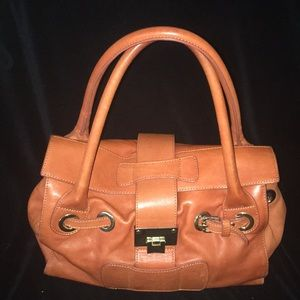 Handbags - Alberta Di Canio leather satchel in Pumpkin spiced